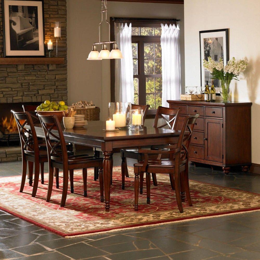 Aspen Home Cambridge Leg Dining Table Set in Brown Cherry   Classy ...
