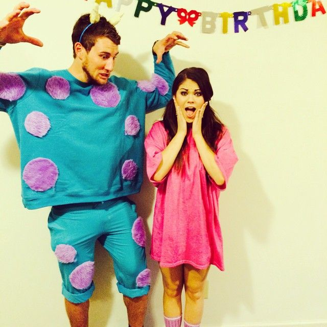 Pin for Later 120+ Easy Couples Costumes You Can DIY in No Time Sulley and Boo  sc 1 st  Pinterest & 120+ Easy Couples Costumes You Can DIY in No Time | Pinterest | Easy ...