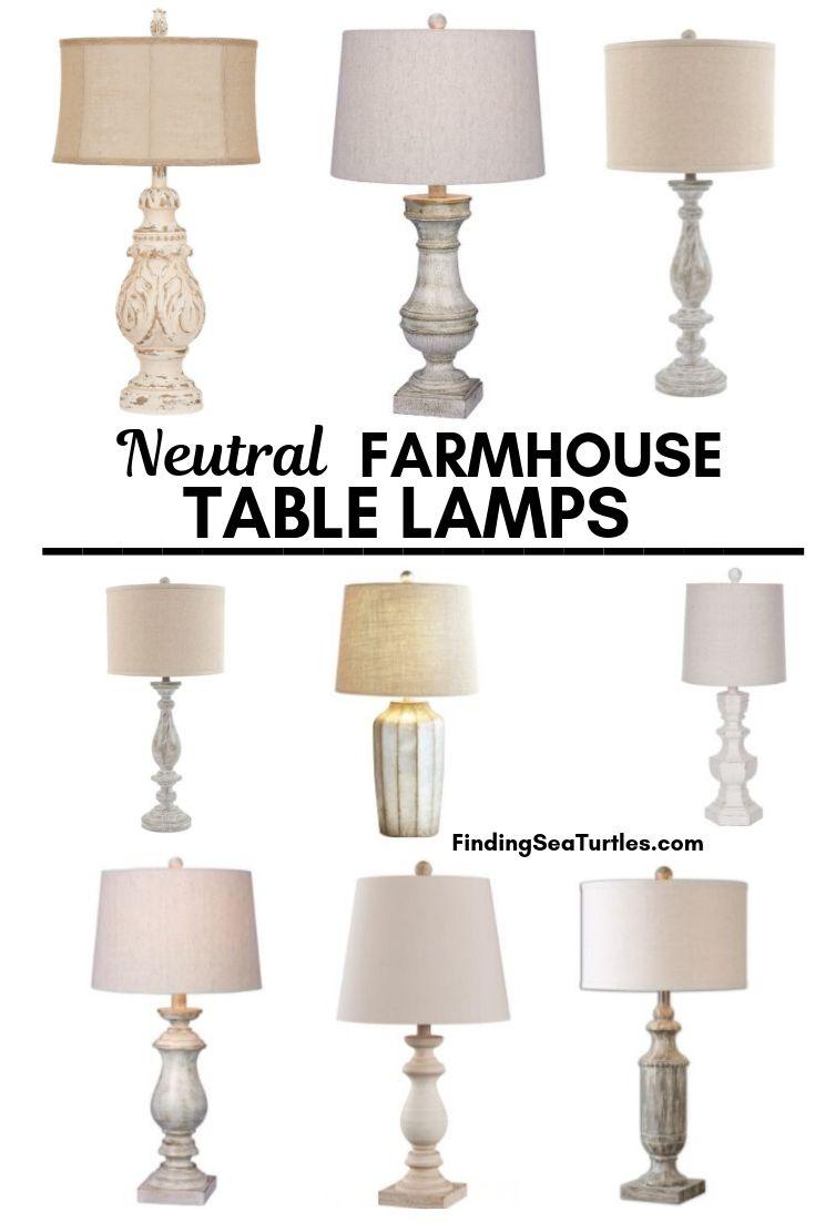 33 Simple Farmhouse Table Lamps Finding Sea Turtles Farmhouse Table Lamps Table Lamps Living Room Modern Farmhouse Table
