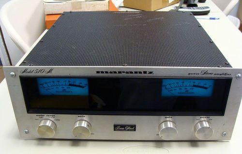 Marantz Model 510m Vintage Stereo Power Amplifier w Blue