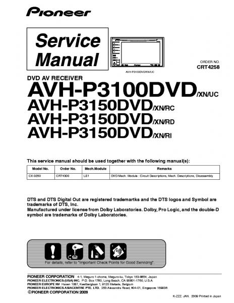 pioneer avh p3100dvd manual in 2020  pioneer avh pioneer