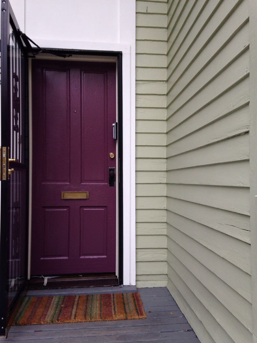 Purple front door!