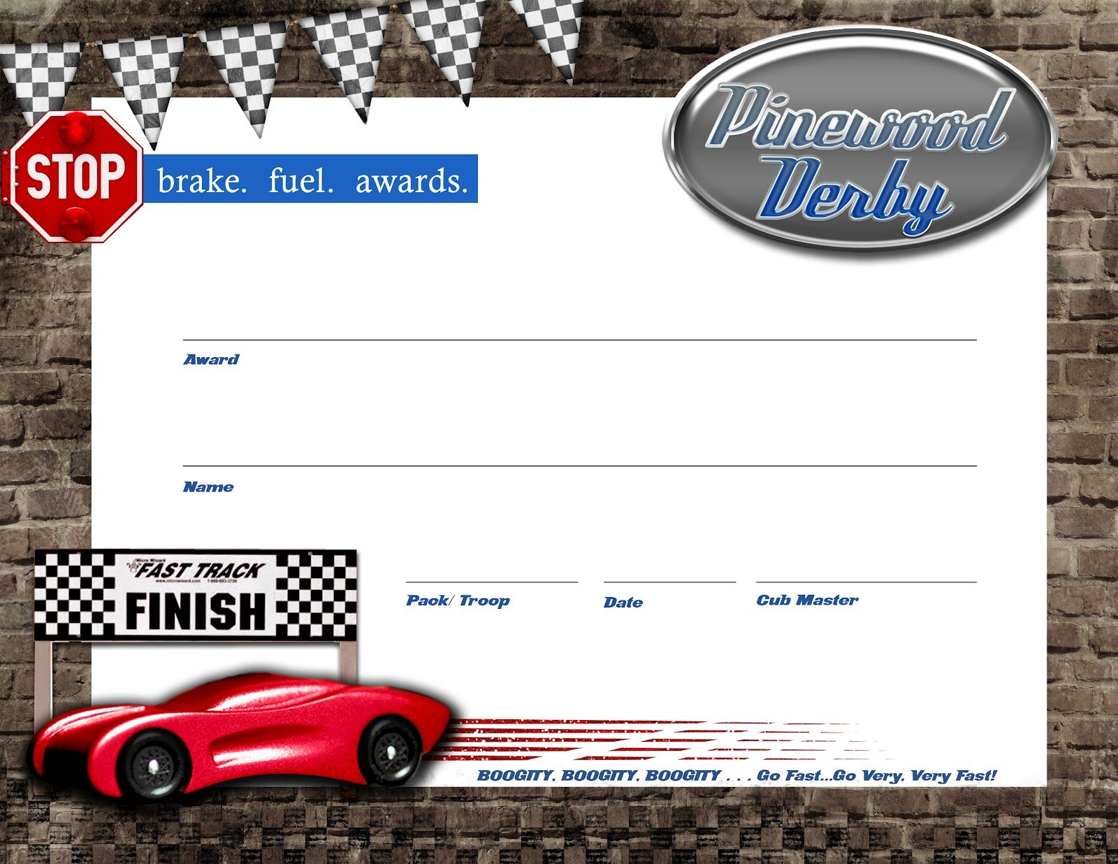 image about Free Printable Pinewood Derby Certificates titled Pinewood Derby Certification - totally free down load + lanyards Boy