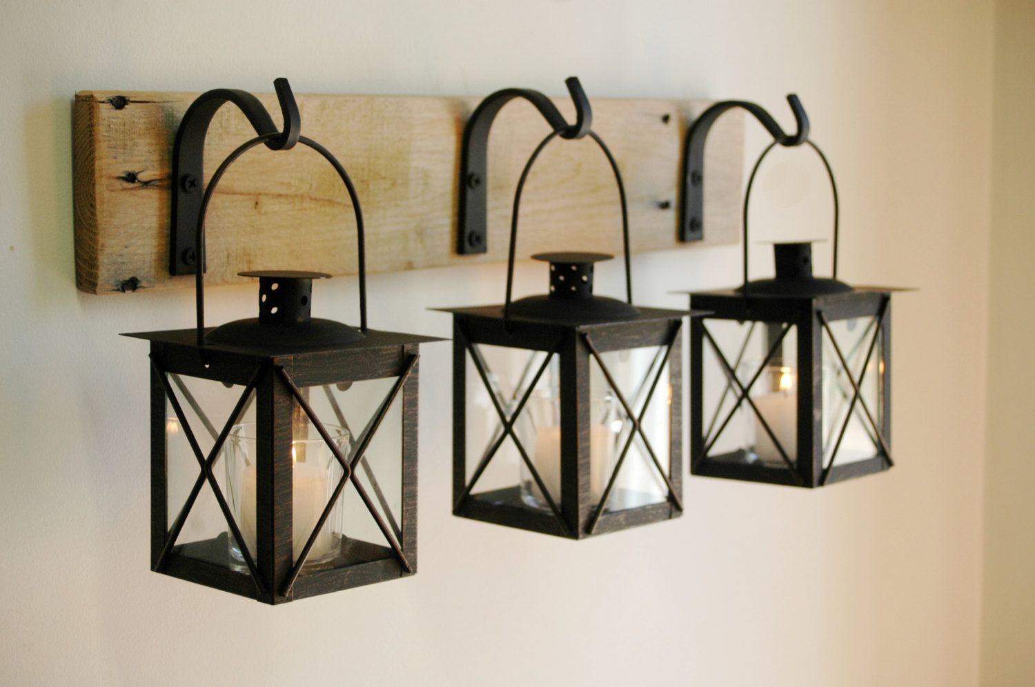 Wall Lantern Indoor : Luminara Lantern - Indoor use - ideas? Black lantern, Wall decor and Unique wall decor