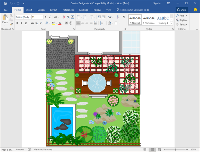 Word Gartendesign Vorlagen Garten Design Design Vorlagen