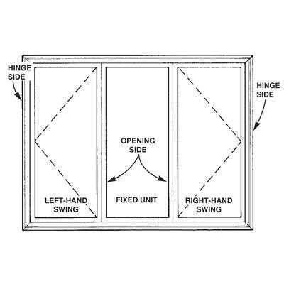 Window Drawing Casement Windows, Basement Window Side Mount Hinges