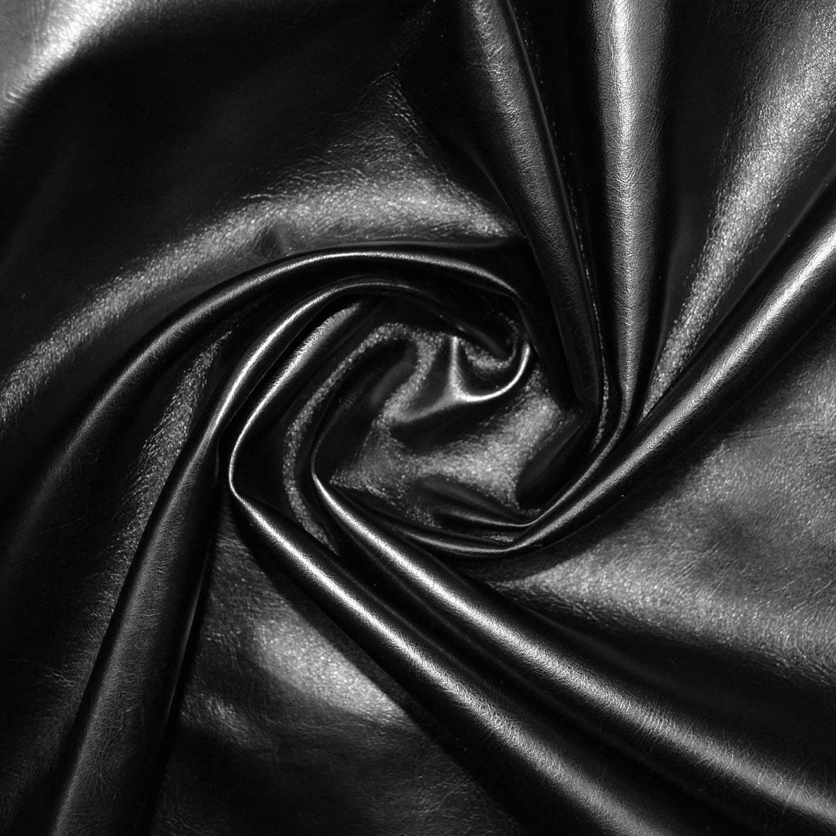 Black Leather Look Fabric 140cm wide Approx 536gsm 58