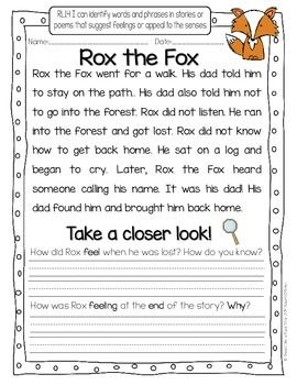 Take A Closer Look Close Reading For First Grade Common Core