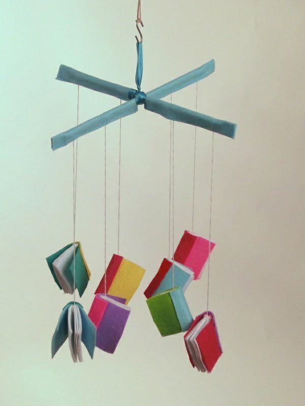 Mobile kinderbett filz bcher elii pinterest craft diy this baby book mobile solutioingenieria Images