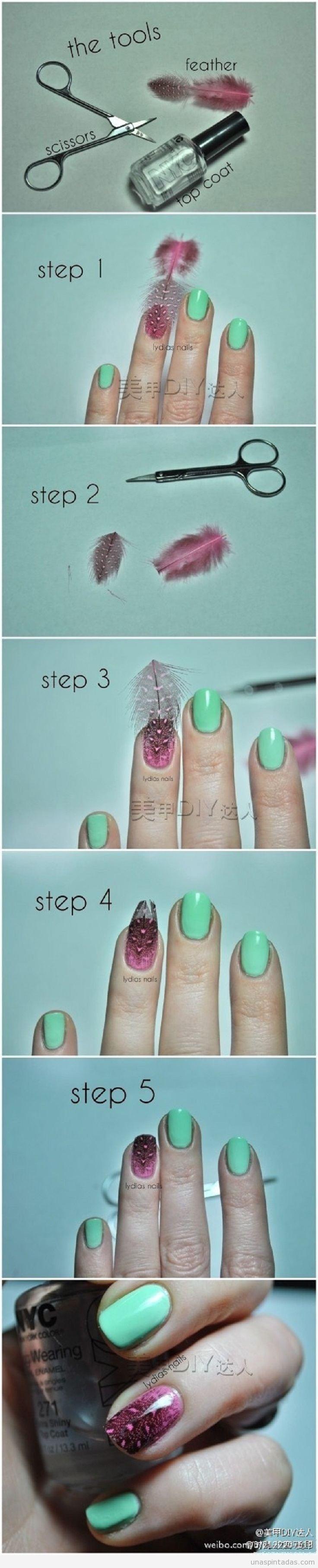 Tutorial diseño de uñas con pluma, paso a paso