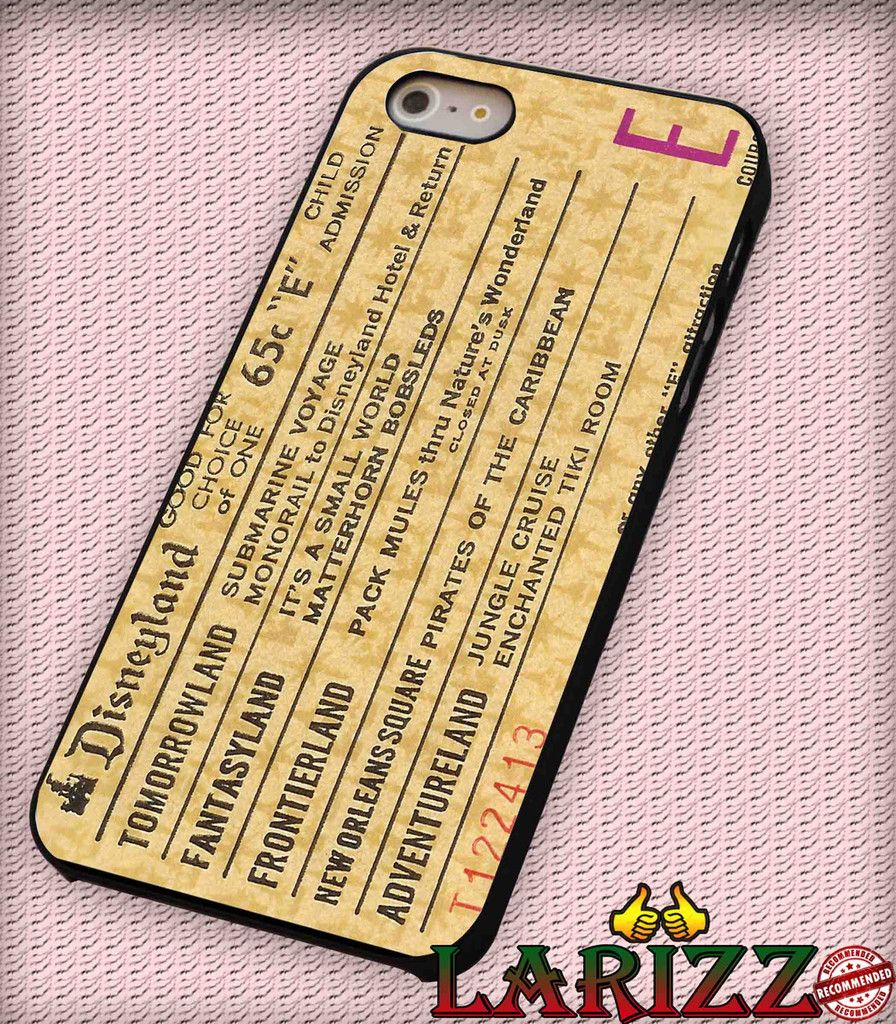 "Disneyland E Ticket Disney for iPhone 4/4s, iPhone 5/5S/5C/6/6 , Samsung S3/S4/S5 Case ""005"""