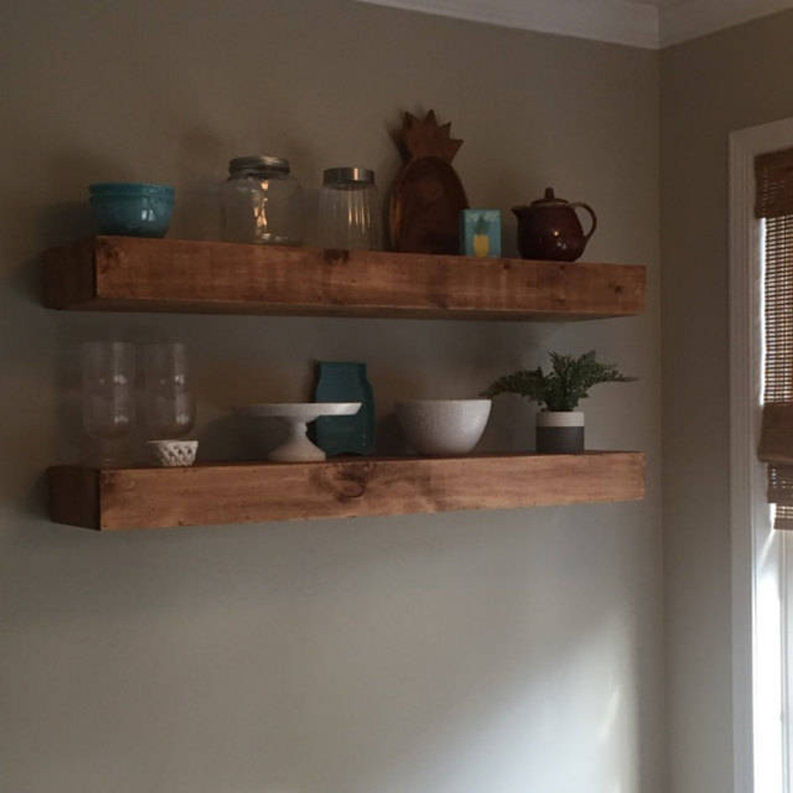Wood Floating Shelves 12 Inches Deep Rustic Shelf Etsy Wood Floating Shelves Floating Shelves Rustic Shelves