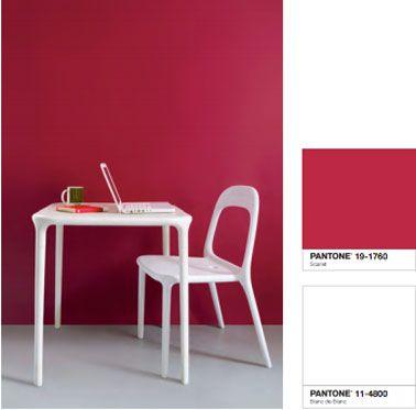 Couleur peinture cuisine rouge blanc Tollens Castorama Pinterest