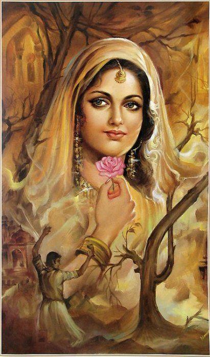 Kareena Kapoor Wallpaper Painting Art Of Beautiful Indian Women Indian Art Painting Of Girl Indian Art Paintings