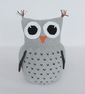 Create and Decoration: Pattern on crochet owl