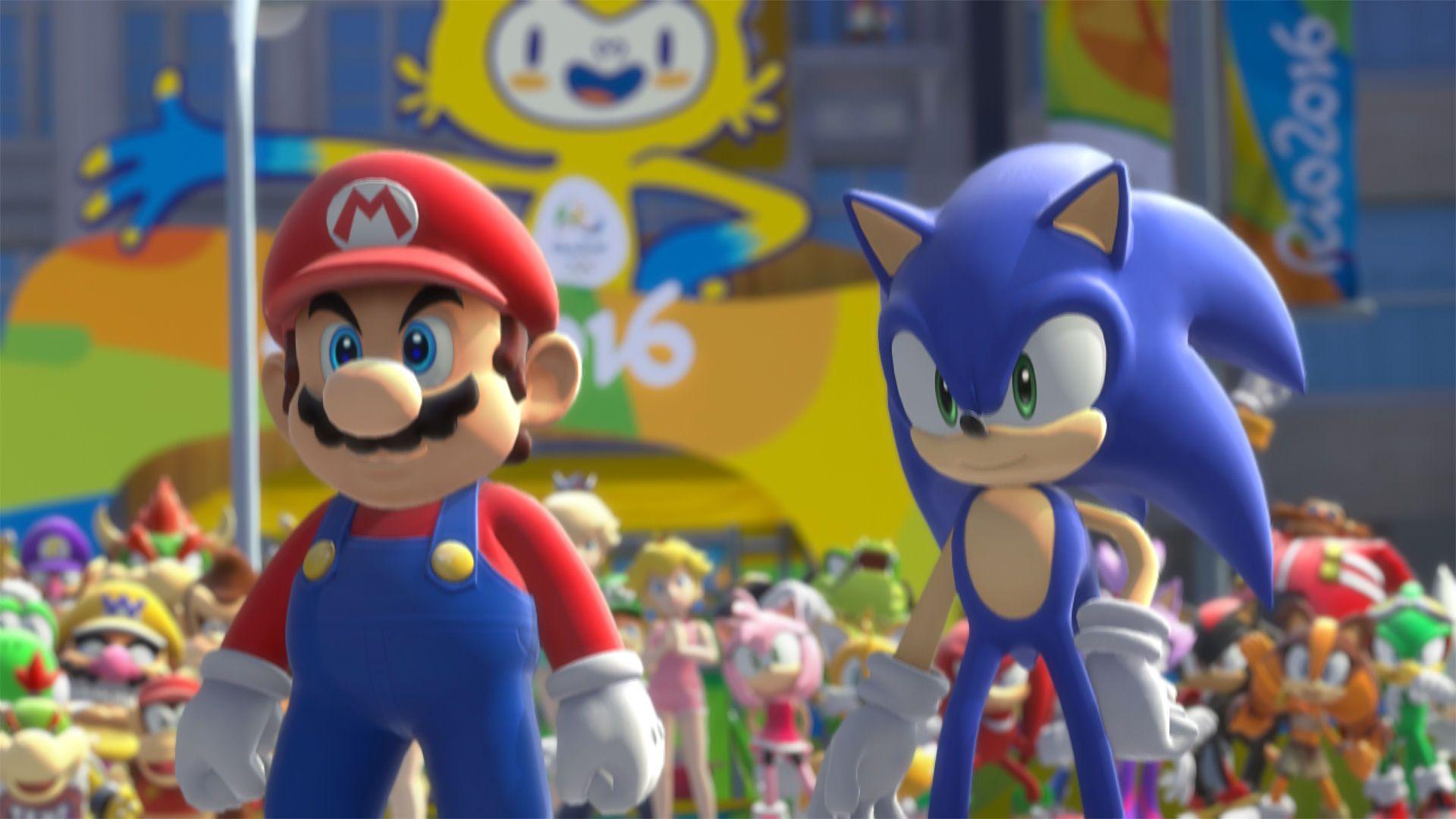Team Mario Team Sonic Sonic Mario Wii U