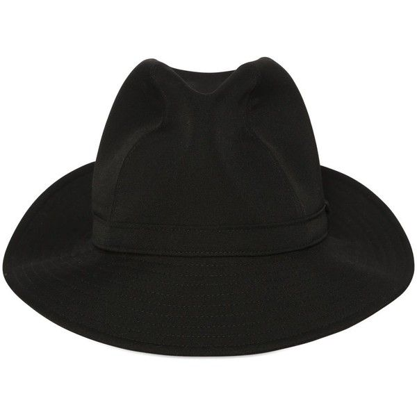 69d4b7d38a7e2 Yohji Yamamoto Men Wool Fedora Hat ( 570) ❤ liked on Polyvore featuring  men s fashion