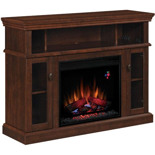 ChimneyFree Media Electric Fireplace, Midnight Cherry - ChimneyFree Media Electric Fireplace, Midnight Cherry Fireplaces