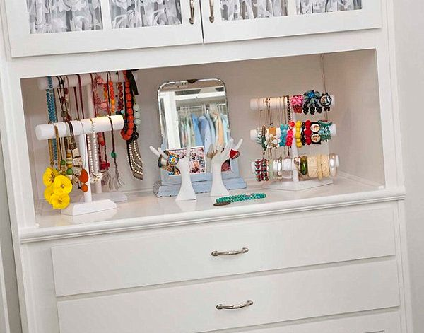 20 Jewelry Storage Options For A Stylish Display Closet Storage Design Home Organization Storage And Organization