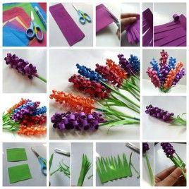 swirly paper flowers F