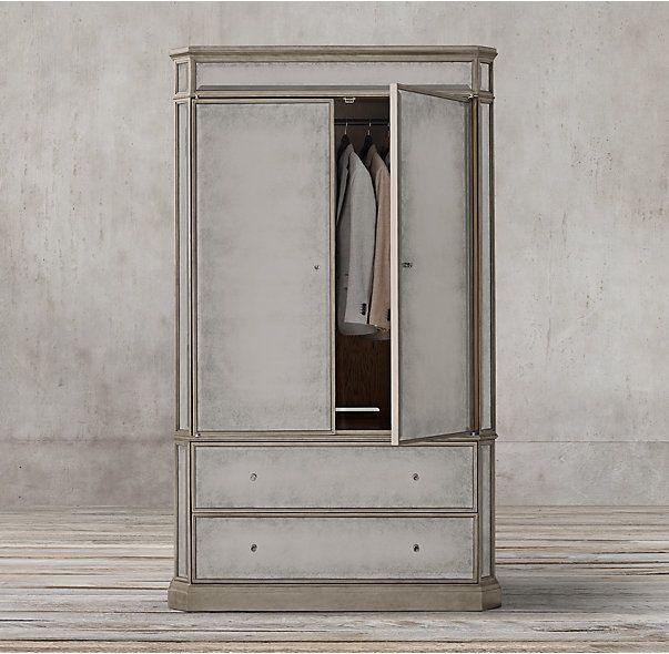 Good 1930s French Mirrored Armoire