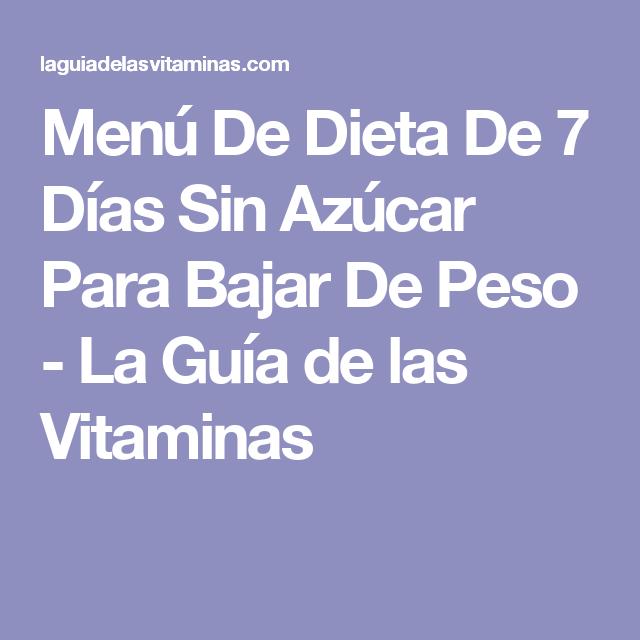 menu para dieta sin azucar