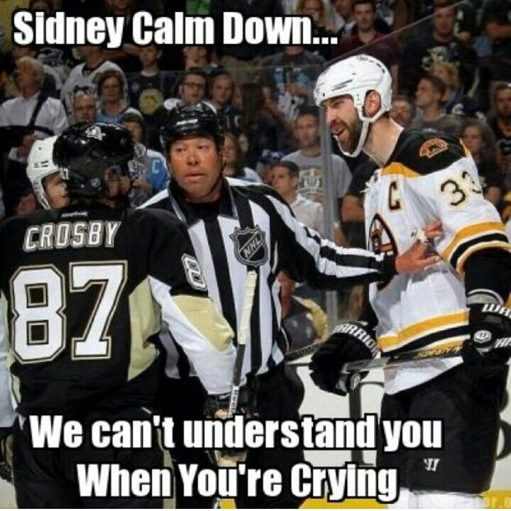 Crying Crosby And The Boston Bruins Funny Hockey Memes Bruins Hockey Pittsburgh Penguins Memes