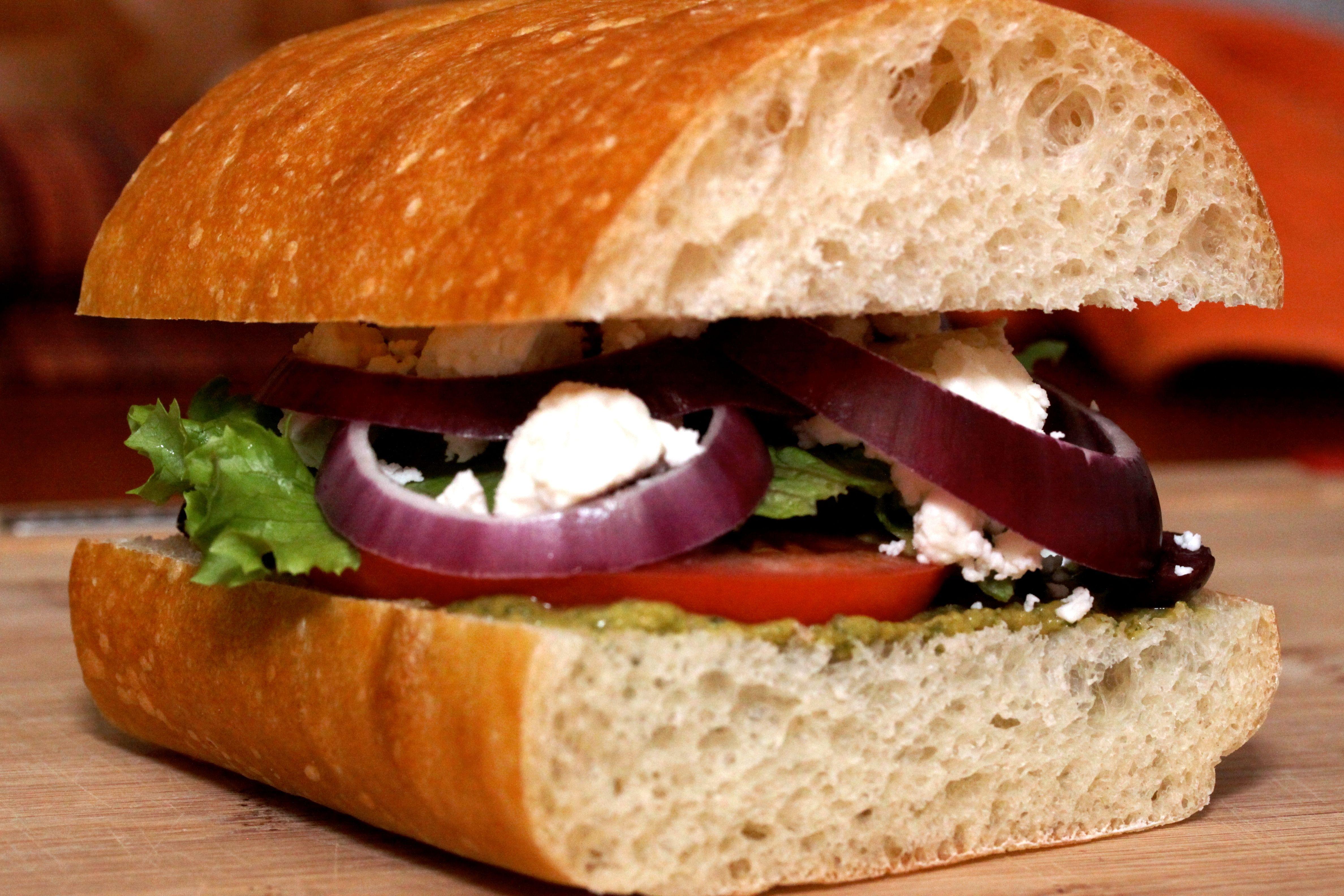 Greek Salad Sandwich | Greek Food | Pinterest