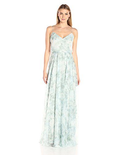 ce889a675945 Jenny Yoo Women's Inesse Floral Chiffon Gown at Amazon Women's Clothing  store: