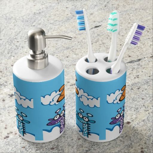 Colorida jirafa. Regalos, gifts. #baño #bath #set