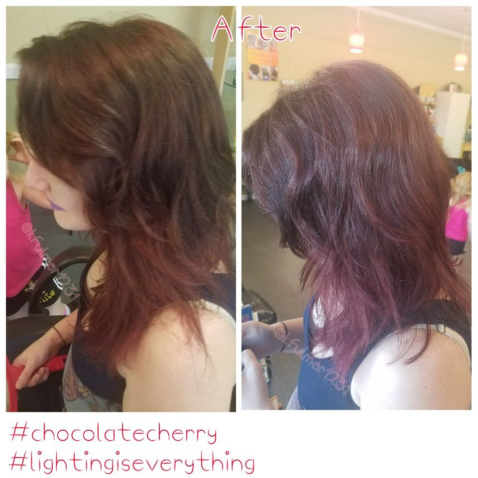 Chocolate cherry hair color | My Hair Art | Pinterest | Chocolate ...