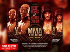 Mma  Boxing Fight Night Showdown Flyer Template By ArtMiranax