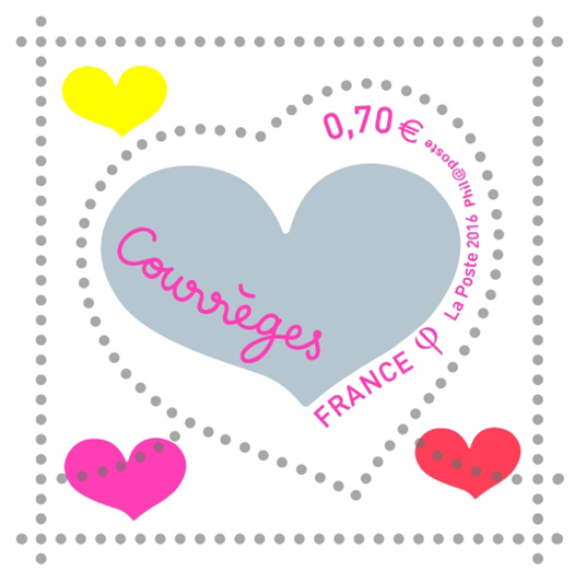 Courrges Stamp 2016