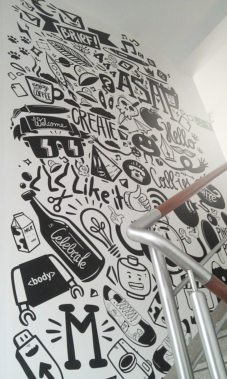Agency life mural peterjaycob on my sense of - Kreative wandbemalung ...