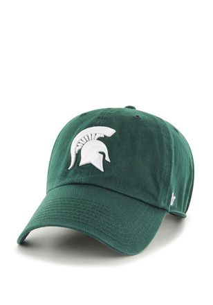on sale 2641f 3eb6f  47 Michigan State Spartans Mens Green Clean Up Adjustable Hat.