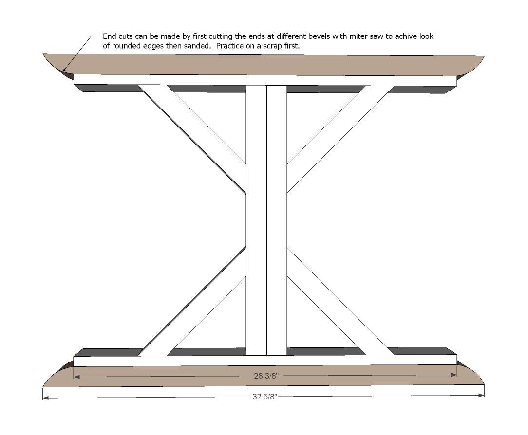 how to build a 6 farmhouse x table