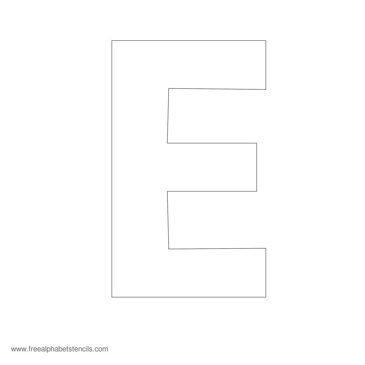 Large alphabet stencil e wood pinterest for Large wooden letter patterns