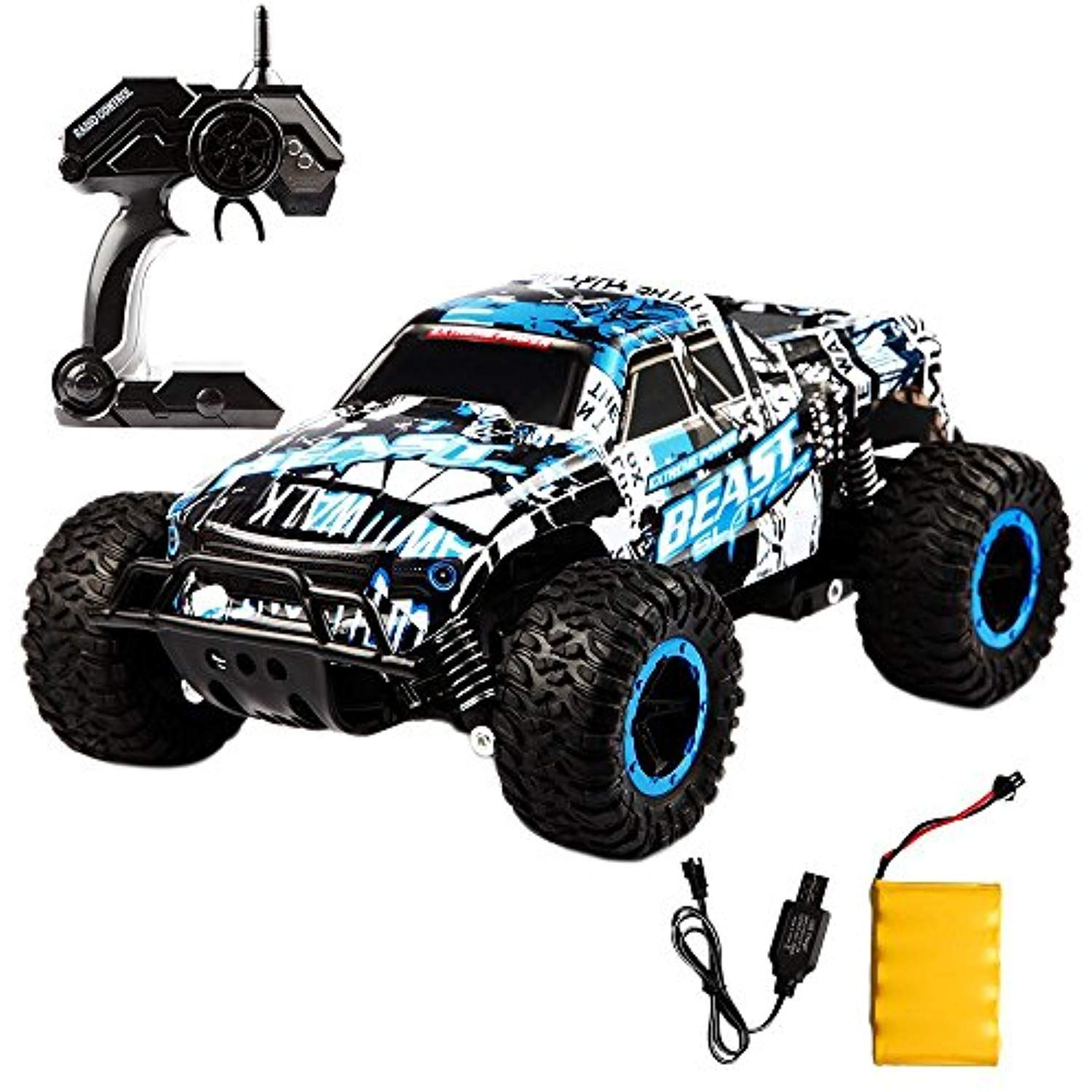 Rc Car Off Road Truck Electric High Speed Vehicle With 2 4ghz 4ch 1 16 Buggy Remote Control Race Monster Rechargeable Race Rock C Vehicles Trucks Rock Crawler