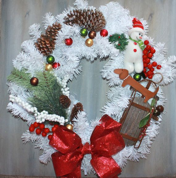 Dachshund Christmas Wreath Custom Order Only by MaxMinnieandMe