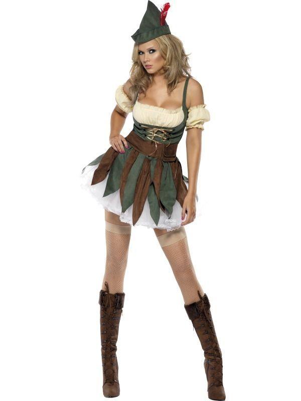 Halloween Sprookjes Kostuum.Fever Sexy Robin Hood Dames Kostuum Sprookjes Kostuums En