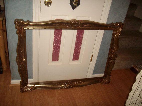 Extra Large Vintage Gold Ornate Plastic 30 X 42 Frame