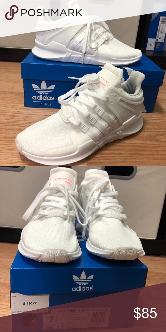 New White Adidas Equipment Support Adv
