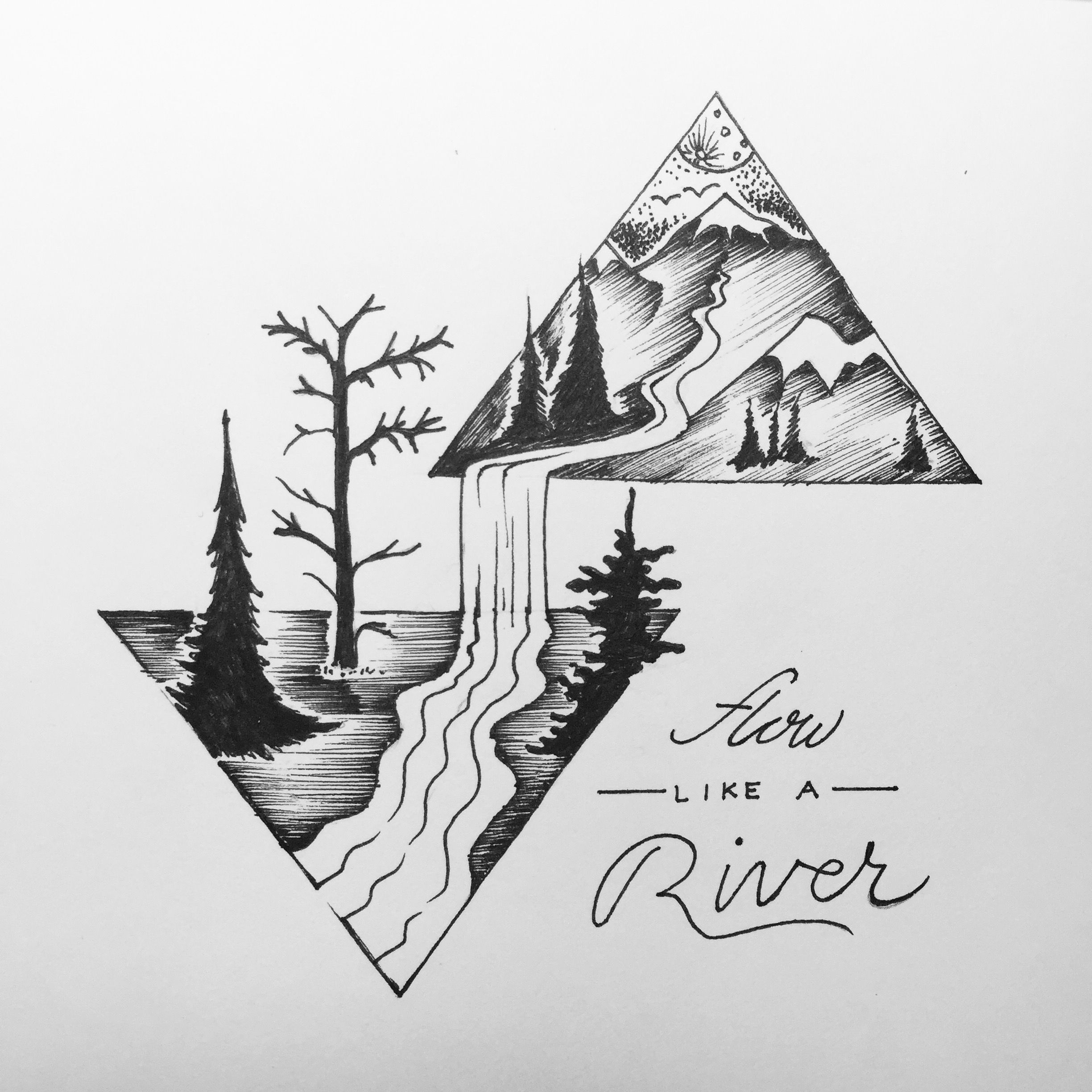 Beautiful Nature Pencil Drawings: Pin By Jordan Stambaugh On @Typography And Lettering In