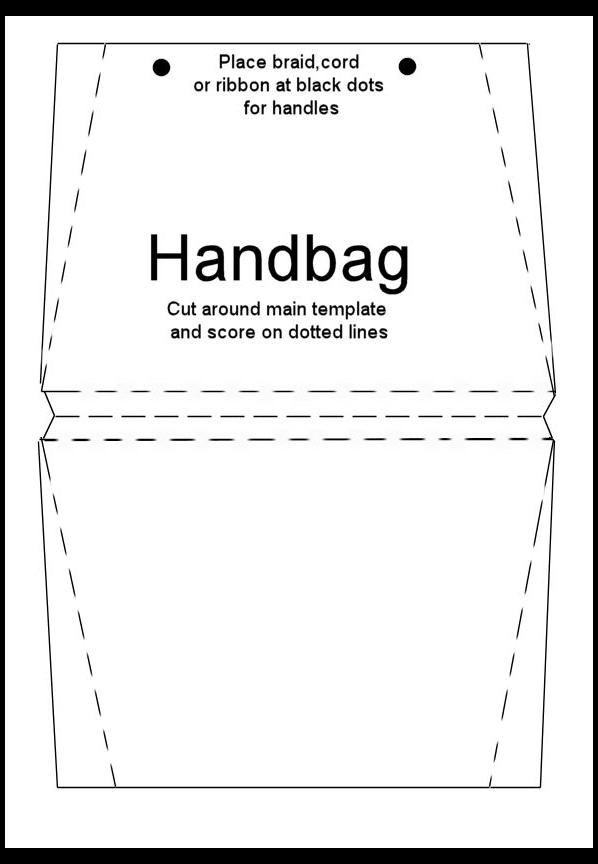 How To Make Handbag Card Tutorial Handbag Card Tutorial Handbagcardtutorial A Simple A Card Making Templates Handbag Card Tutorial Card Templates Printable