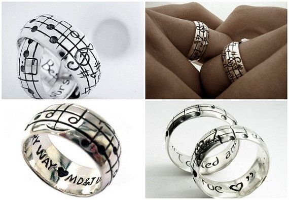 Your Song Wedding Rings Any One Of A Kind By Myfavoritesong 449 00