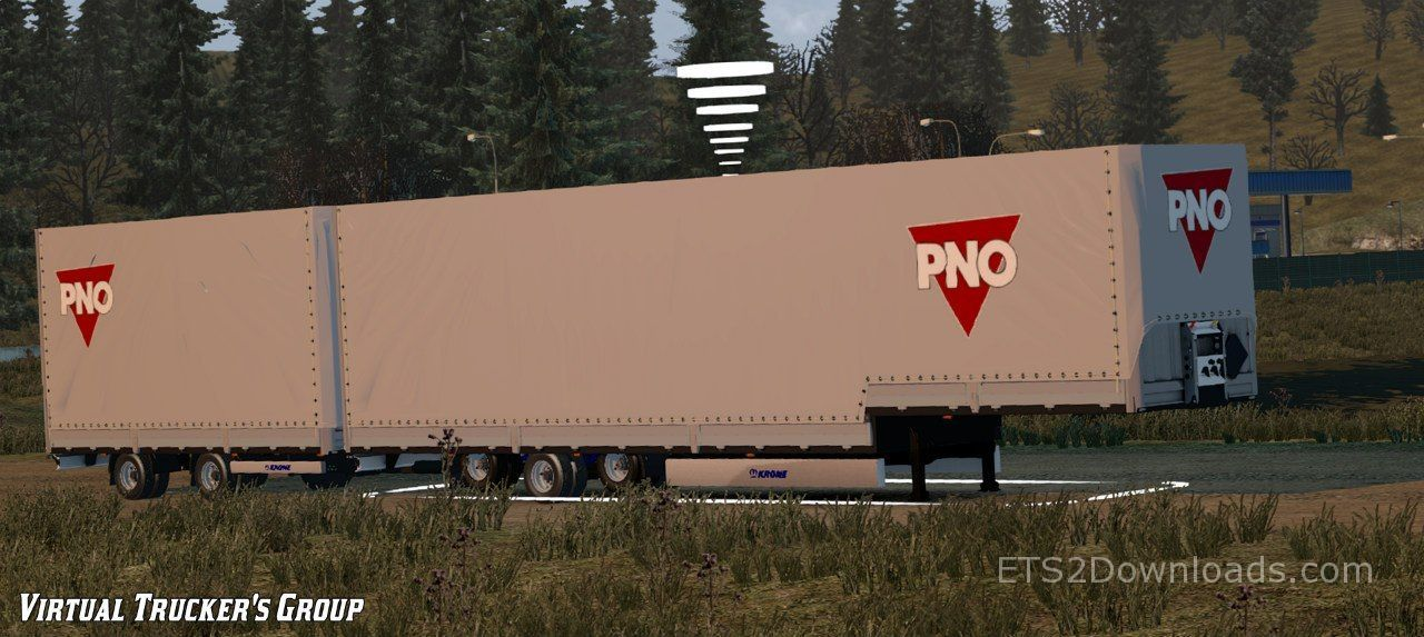 Krone Double Pno Trailer With Images Trailer Simulation Trucks