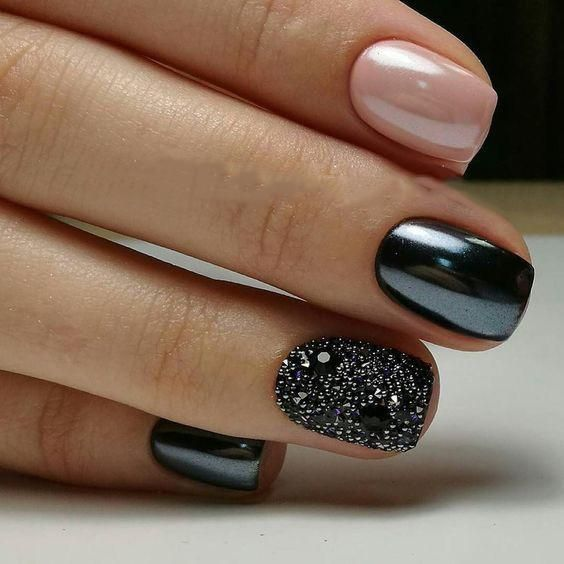 80+ Incredible Black Nail Art Designs for Women and Girls ...