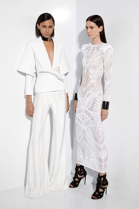 Balmain | Cruise/Resort 2015 Collection via Designer Olivier Rousteing | Modeled by Binx Walton & ? | July 7, 2014; Paris | Style.com