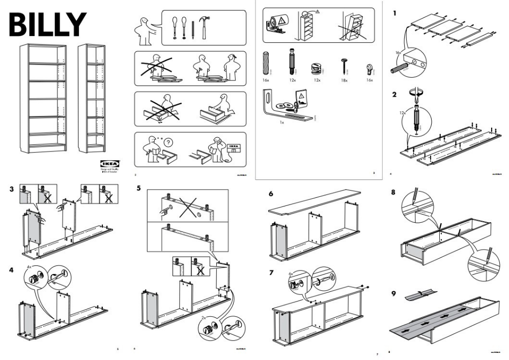 ikea furniture manual - Google Search | Ikea instructions, Manual design, Tool design