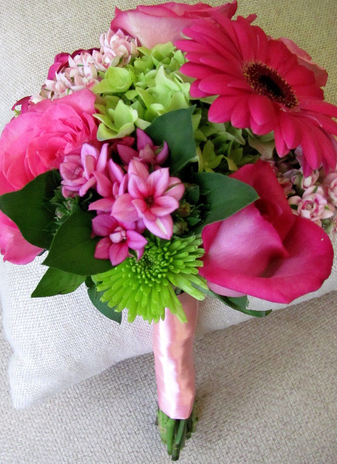 Pink and green flower bouquets for weddings   ... pink bouvardia, a ...